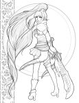 Guild Wars 2 Character Design Lineart by EmilyCammisa