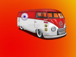 VW kombi custom by immortalwolfhunter