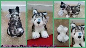 Adventure Planet 8in husky Puppy by Vesperwolfy87