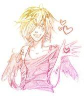 Heart hand scribble by coconutmoonkey