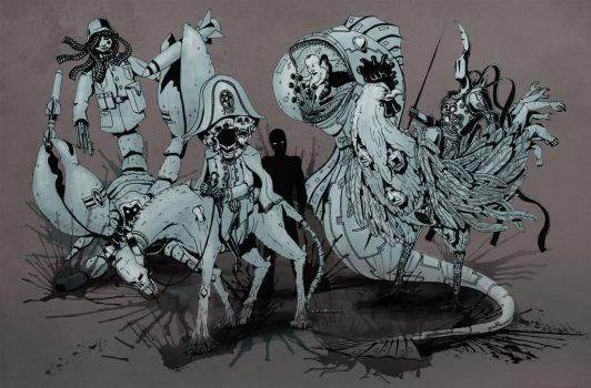 4 Riders of Apocalypse by geduliss