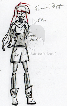 Female Papyrus by MyWorld35