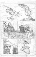 New Avengers page pencil by fragcomics
