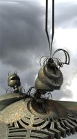 Steampunk Ants - Pong 132 by batjorge