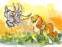 Derpy and Carrot 01 by CuteSkitty