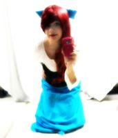 Blue Dress Ariel by PockyBoxxProductions