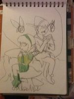Peter and Saria OLD by InvaderSonicMx