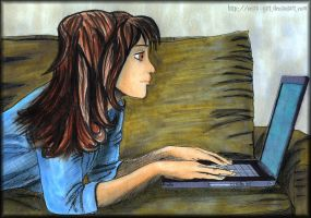 Hermione online. by VeIra-girl