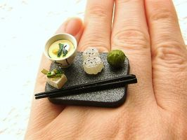 Traditional Japanese Food Ring by souzoucreations