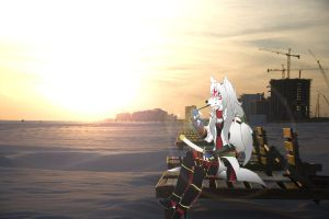 Okami amaterasu taking a break by TheVelvettBlue