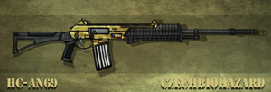 Fictional Firearm: HC-AN69 Assault Rifle by CzechBiohazard