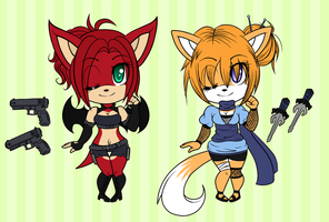AUCTION - Fighter Girls - CLOSED by Attack-On-Adopts