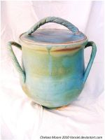 Turquoise Lidded Pot by Vonsiel