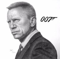 Daniel Craig by FromPencil2Paper