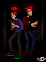 Pewds and Jack | Blood and Bacon by xOtakuStarx