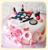 Roses make up cake by Dyda81