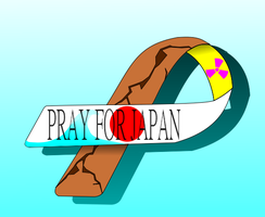 Pray For Japan Ribbon - Anniversary by Afterskies