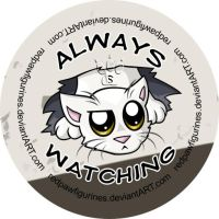 Ceiling Cat Chibi Badge by RedPawDesigns