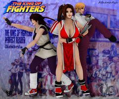 king of Fighters Women's Team by AthenaAsa