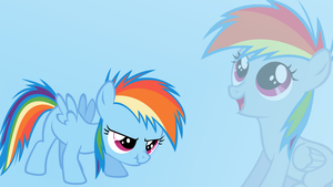 Filly Rainbow Dash Wallpaper by MLPwallpapermaker