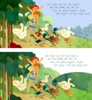 Duck Duck Goose by lemonflower