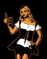 Vector German Barmaid by Area-44