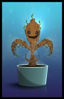 Baby Groot as fleur de lis by cgianelloni