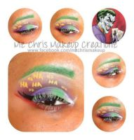 Joker makeup by MzChrisCreatez