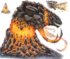 Giant Lava Monster by KillustrationStudios
