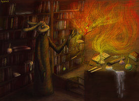 Summoning the fire cat by firael666
