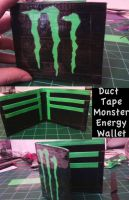 Duct Tape Wallet- Monstr Enrgy by thejenty