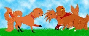 The three foxinized by Slixen