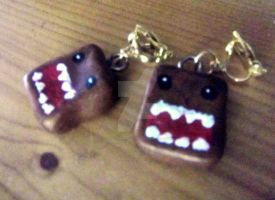 My Domo kun earrings by trixy-bernadotte