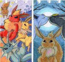 Notebook series -Eeveelutions- by jawazcript