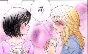 Girlfriends Manga Cap ipad colouring by KookieMastahArt
