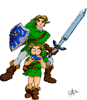 TLoZ OoT - Link by AntoPbo