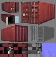 3D Game - Shipping Container by raykitshum