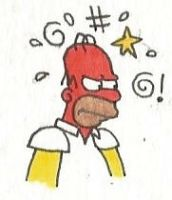 Angry Homer Simpson by brazilianferalcat