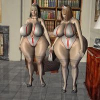 jana and giselle fantasy version Simple render by michaelvr4