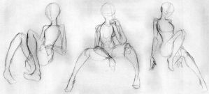 Day 281 - Sitting Gestures 1 by Chame