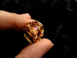 Phoenix Lava Opal Ring - Square Wire Size 6.75 by LadyPirotessa