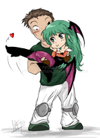 Chris x Morrigan by Mirian