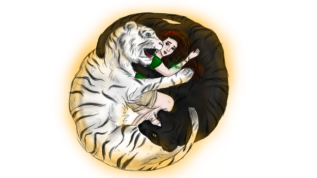 A tale of two tigers by TheSearchingEyes