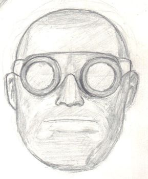 Engineer Head Drawing by Psyche-Clops