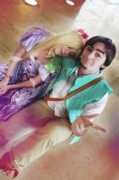 Rapunzel and Eugine cosplay Tangled by MissWeirdCat
