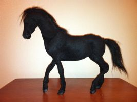 Posable Black Horse Plush Figure by SabrePanther