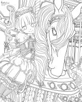 Day 64  Meet Wendy By Darthmer-mer Lineart WIP by AngieMP