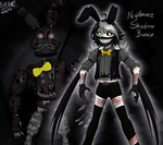 Nightmare Shadow Bonnie by Emil-Inze
