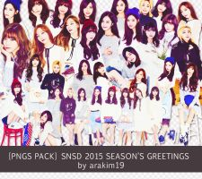 [PNG/Renders Pack] SNSD for 2015 Season's Greeting by babyjung2