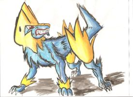 Manectric by SubwaymasterMegumi